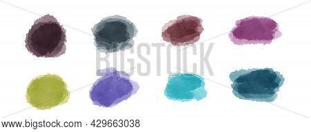 Abstract Art Hand Paint Isolated On White Background.