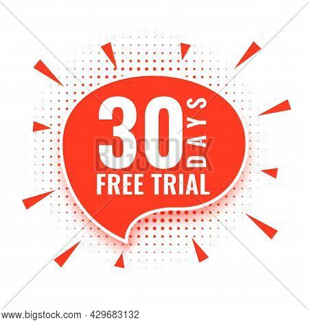 30 Days Free Trial Access Background Design Vector Illustration