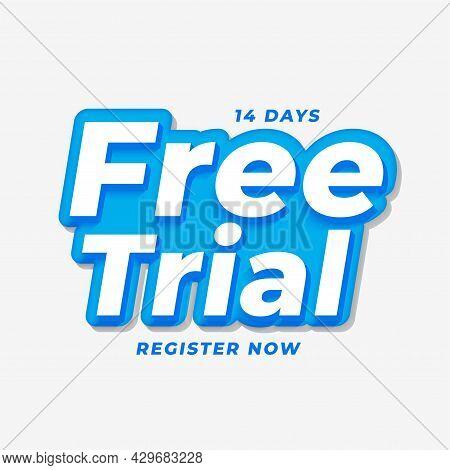 14 Days Free Trial Background Design Vector Illustration