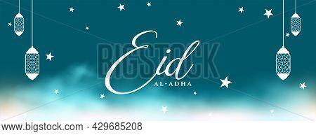 Beautiful Eid Al Adha Bakrid Festival Banner Design