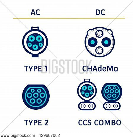 The Difference Ev Charging. Connector Type 1, Type 2,