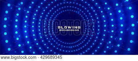Glowing Radial Light Dots Banner Design Vector Illustration