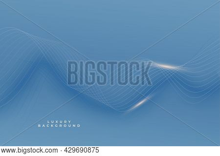 Royal Blue Premium Background With Shiny Smooth Lines Design Vector Illustration