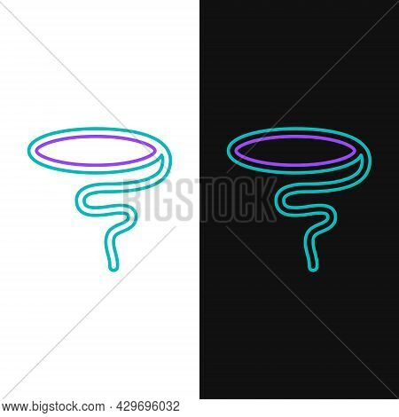 Line Lasso Icon Isolated On White And Black Background. Colorful Outline Concept. Vector