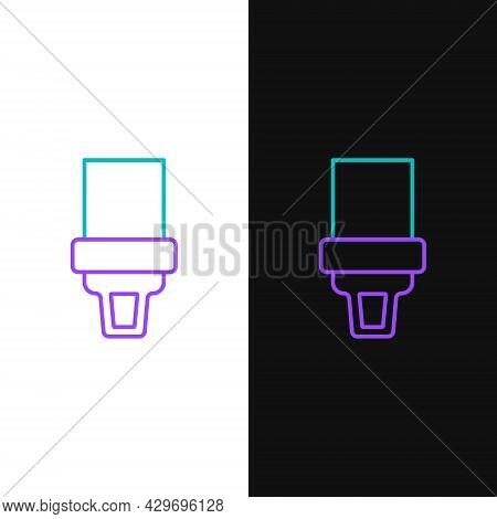 Line Safety Belt Icon Isolated On White And Black Background. Seat Belt. Colorful Outline Concept. V