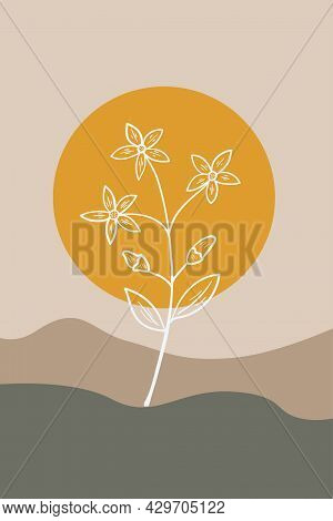 Centaury, Abstract, Poster, Minimal Dd Ww Herb
