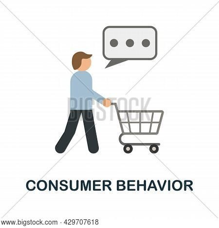 Consumer Behavior Flat Icon. Colored Sign From Customer Management Collection. Creative Consumer Beh