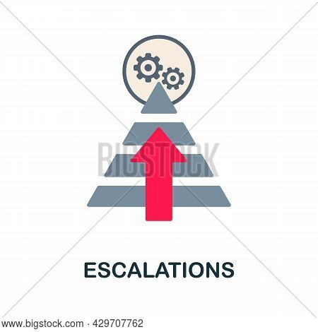 Escalations Flat Icon. Colored Sign From Customer Management Collection. Creative Escalations Icon I