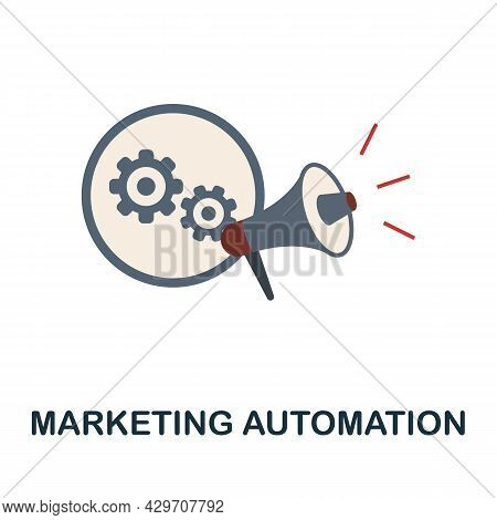 Marketing Automation Flat Icon. Colored Sign From Customer Management Collection. Creative Marketing