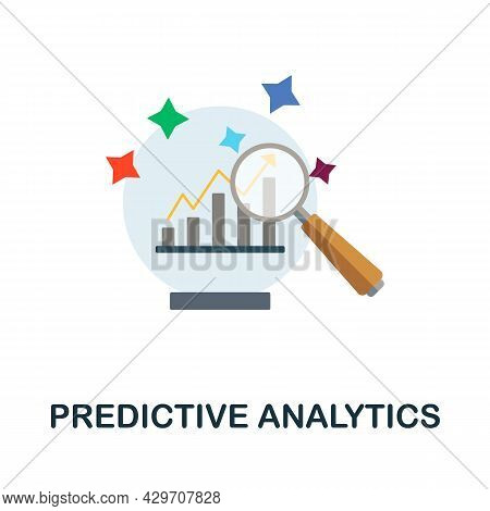 Predictive Analytics Flat Icon. Colored Sign From Customer Management Collection. Creative Predictiv