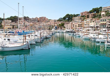 Boats in Puerto Soller, Mallorca, Spain