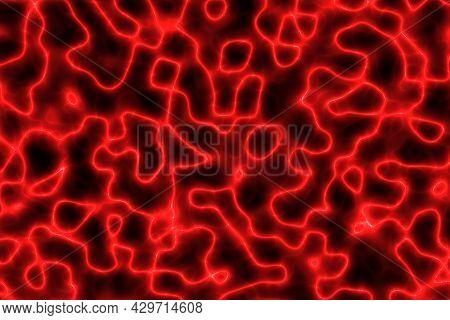 Amazing Red Lambent Energetic Digitally Drawn Background Texture Illustration