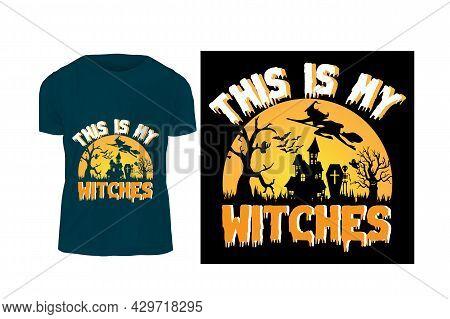 Halloween T-shirt Design .typography T-shirt Design For Halloween Day. Holiday  Party T Shirt