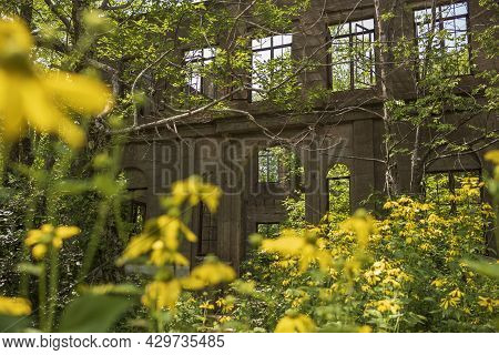 The Skeletal Remains Of The Catskills Hotel, The Overlook Mountain House, Welcomes Hikers Who Journe