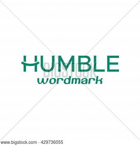 Unique And Clean Wordmark Logo About, Letter H, Humble And Smile. Eps 10, Vector.