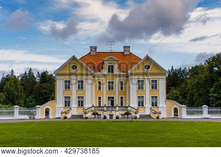 Palmse, Estonia: 8 August, 2021: View Of The Palmse Manor House In Northern Estonia