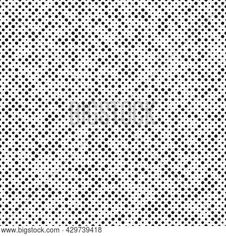 Abstract Fashion Monochrome Polka Dots Background. Black And White Seamless Pattern With Textured Ci