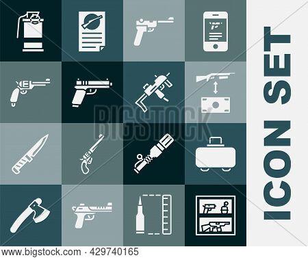 Set Hunting Shop Weapon, Weapon Case, Buying Assault Rifle, Mauser Gun, Pistol Or, Revolver, Hand Sm