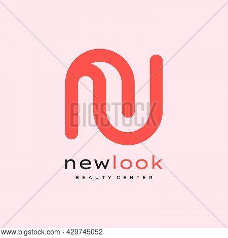 Illustration Letter N And U For Logo Designs