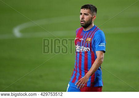 Barcelona, Spain. 08th August 2021 . Jordi Alba Of Fc Barcelona  During The Pre-season Friendly Matc