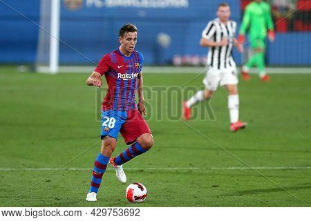 Barcelona, Spain. 08th August 2021 . Nico Gonzalez Of Fc Barcelona  During The Pre-season Friendly M