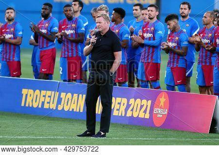 Barcelona, Spain. 08th August 2021 . Ronald Koeman, Head Coach Of Fc Barcelona  During The Pre-seaso