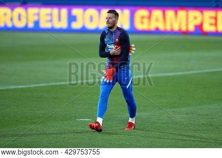 Barcelona, Spain. 08th August 2021 . Norberto Neto Of Fc Barcelona  During The Pre-season Friendly M
