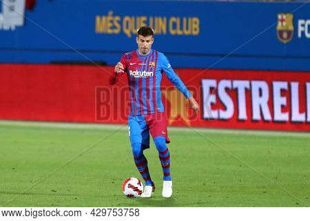 Barcelona, Spain. 08th August 2021 . Gerard Pique Of Fc Barcelona  During The Pre-season Friendly Ma