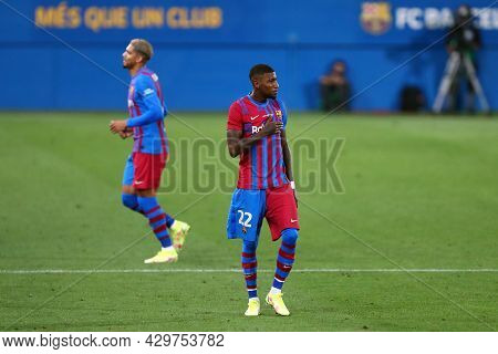 Barcelona, Spain. 08th August 2021 . Emerson Royal Of Fc Barcelona  During The Pre-season Friendly M