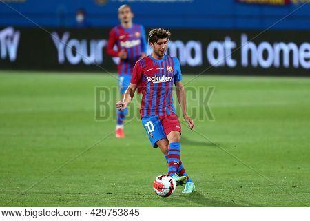 Barcelona, Spain. 08th August 2021 . Sergi Roberto Of Fc Barcelona  During The Pre-season Friendly M
