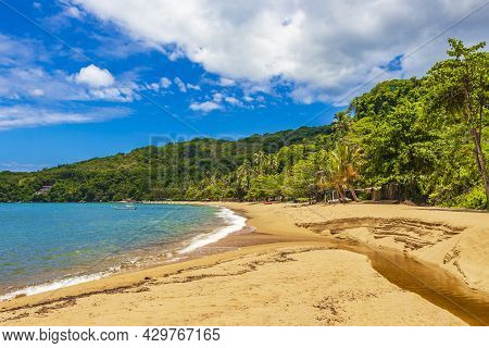Big Tropical Island Ilha Grande Praia De Palmas Beach Brazil.