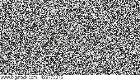 Seamless Pixel Noise Texture. Static Interference Grunge Vector Background. Tv Screen No Signal.