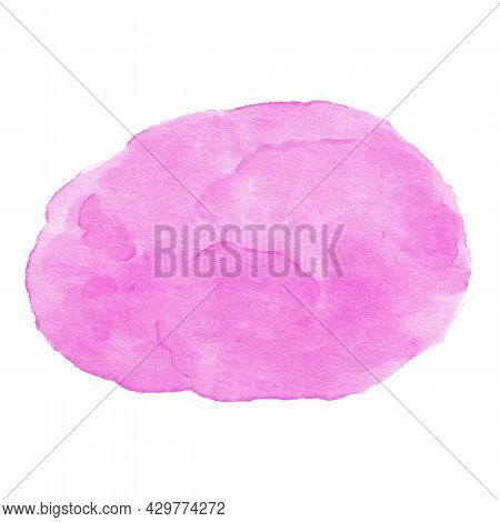 Abstract Purple Watercolor Background. Watercolor Purple Stain Isolated On White Background. Waterco