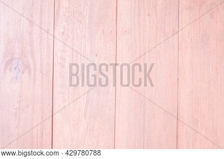 Wood Plank Pink Sweet Texture Background. Wooden Wall All Antique Cracking Furniture Painted Weather