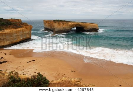 Bridge (or Gap) is one of many spectacular rock formations along Australia's Great Ocean Road (also known as the Shipwreck Coast). poster