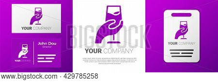 Logotype Wine Tasting, Degustation Icon Isolated On White Background. Sommelier. Smells Of Wine. Log