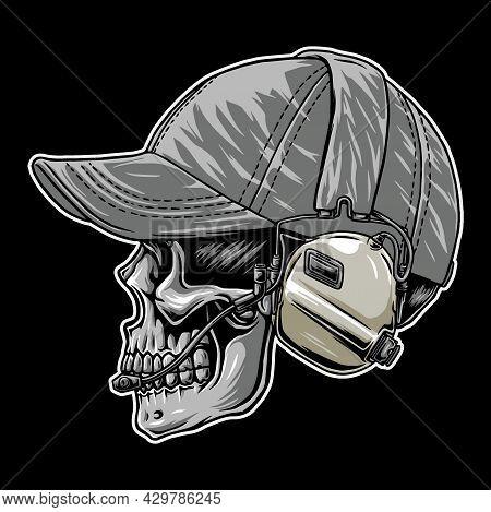 Tactical Head Skull Vector, In The Dark Beground