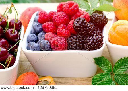 Berries In A Bowl, Healthy Vegetarian Food