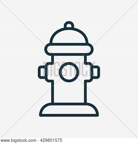 Fire Hydrant Line Icon. Fire Extinguishing Hydrant Linear Icon. Editable Stroke. Isolated Vector Ill