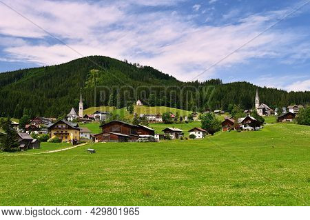 Beautiful Mountain Scenery In The Austrian Alps.