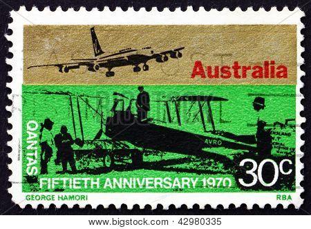 Postage Stamp Australia 1970 Sunbeam Dyak Powered Awro 504