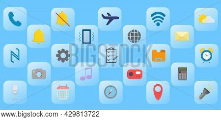 Icons For Applications With A Matte Background