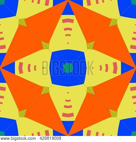 Simple Trendy Symmetrical Geometric Pattern. Great For Fashion Design And House Interior Design. Tem