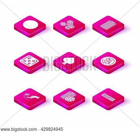 Set Human Hand Throwing Game Dice, Casino Chips, Game, Playing Card With Spades Symbol, Deck Of Play