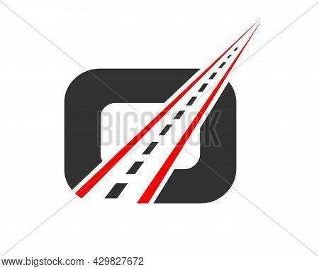 Transport Logo With O Letter. O Letter Road Logo Design