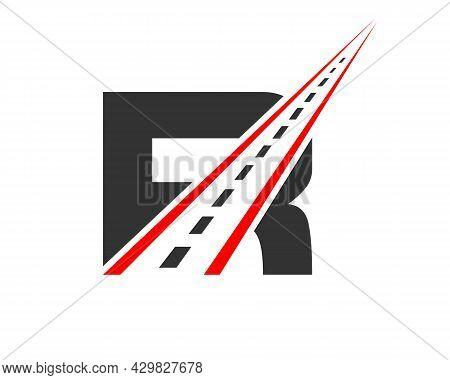 Transport Logo With R Letter. R Letter Road Logo Design