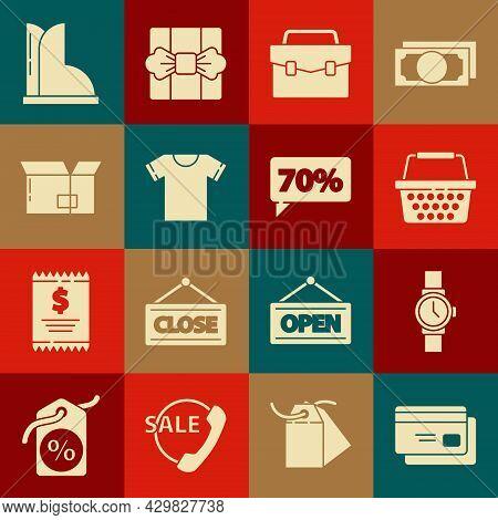 Set Credit Card, Wrist Watch, Shopping Basket, Briefcase, T-shirt, Carton Cardboard Box, Waterproof