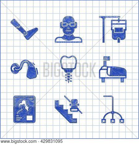 Set Dental Implant, Disabled Elevator, Walking Stick Cane, Hospital Bed, X-ray Shots, Hearing Aid, I