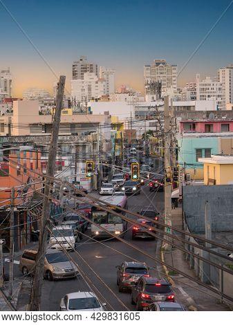 Santurce, San Juan, Puerto Rico. January 2021. Calle Loiza Is The Place Where You Feel At Home In Sa