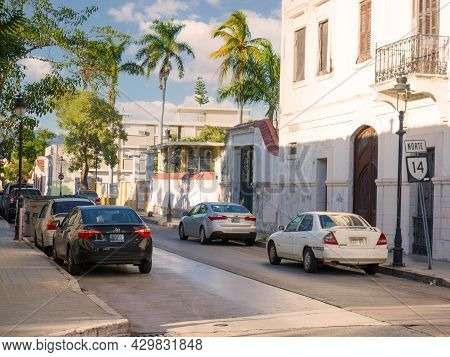 Ponce, Puerto Rico. January 2021.the Old Town Of The City Of Ponce In Puerto Rico, United States.